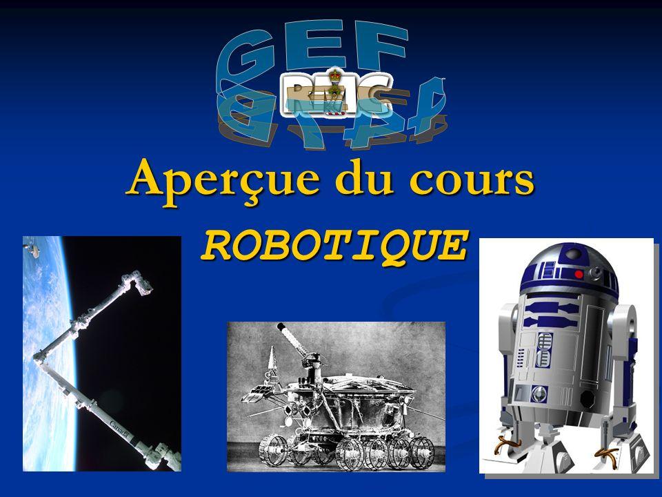 Aperçue du cours ROBOTIQUE