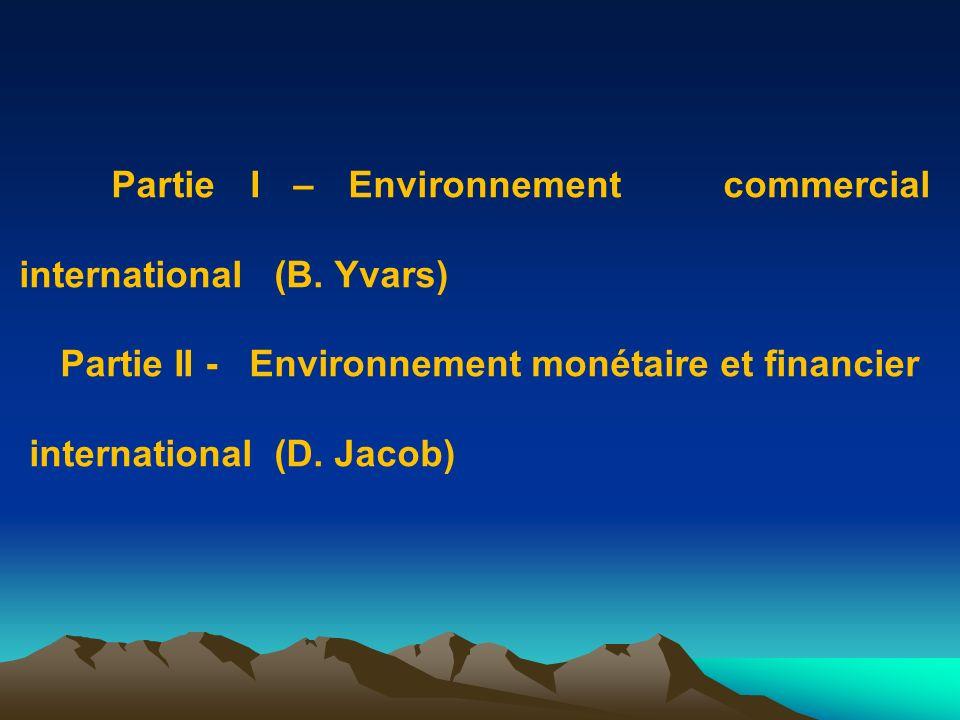 Partie I - Environnement commercial international (B.