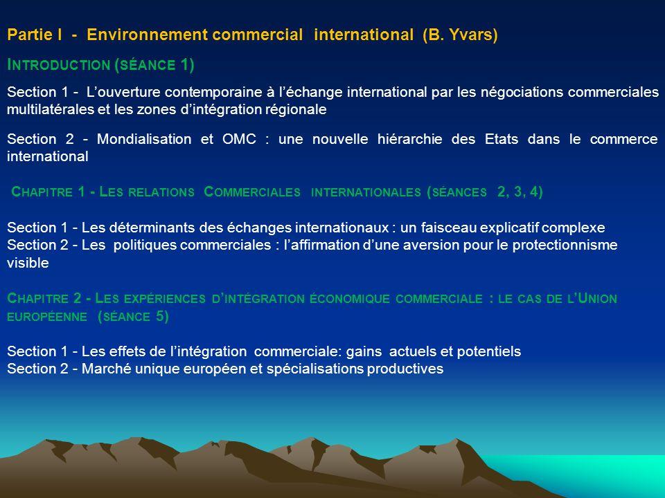 Chapitre 1 - Les relations Commerciales internationales Les avantages comparatifs .