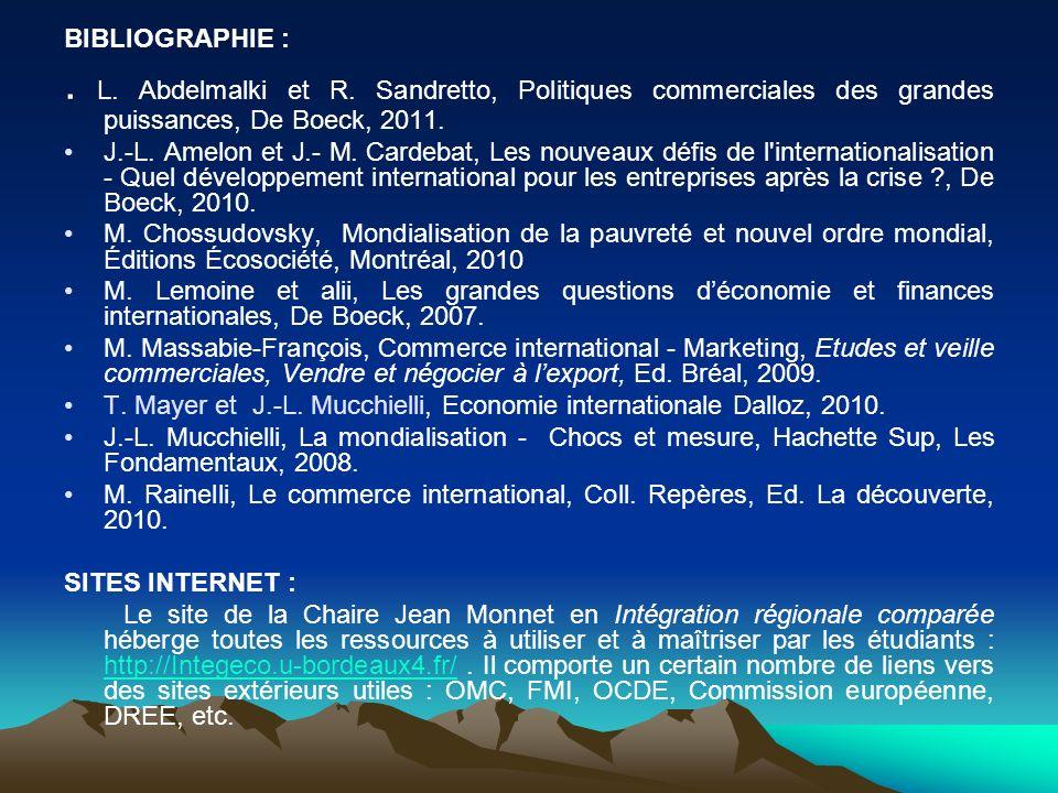 BIBLIOGRAPHIE :.L. Abdelmalki et R.