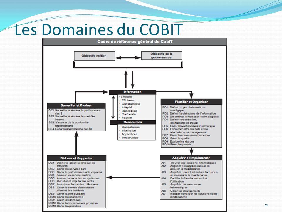 Les Domaines du COBIT 11