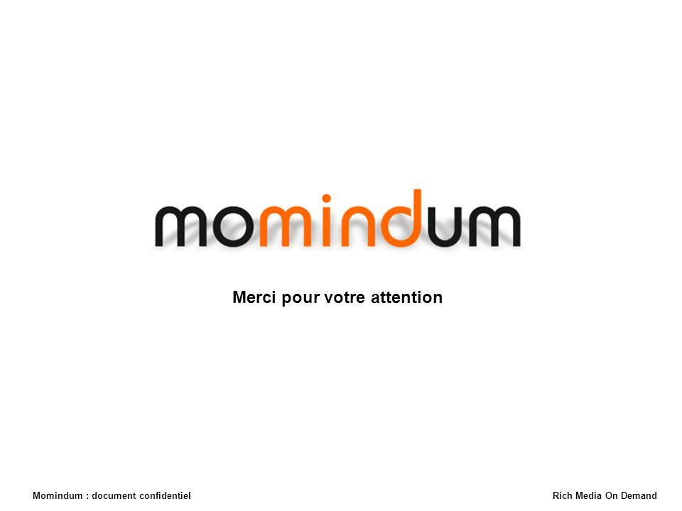 Momindum : document confidentiel Rich Media On Demand Merci pour votre attention