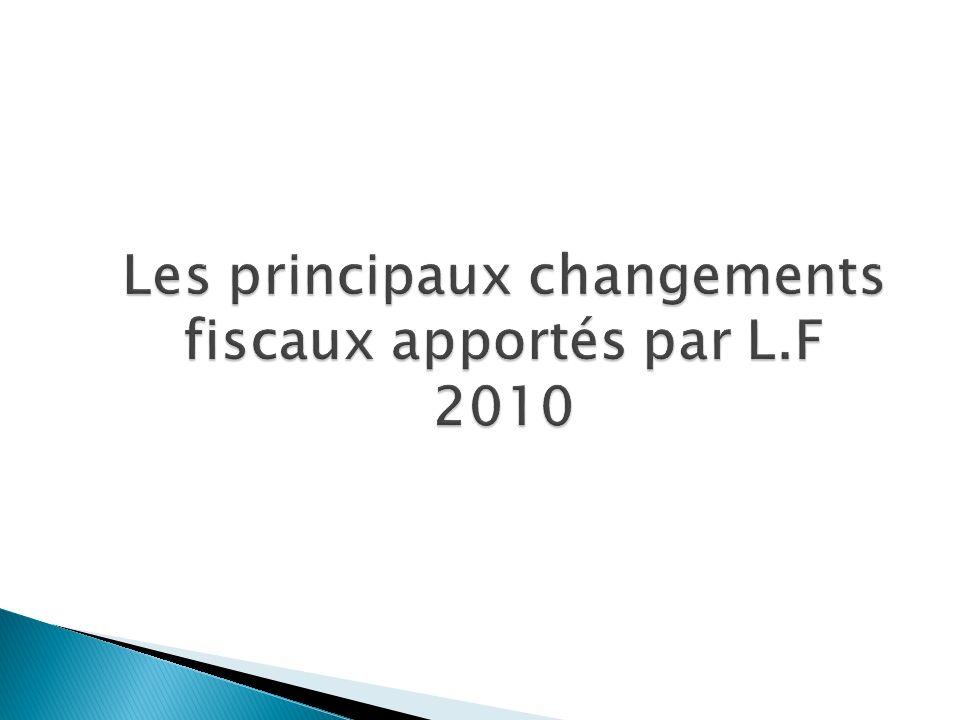 - Prorogation pour une durée supplémentaire de 3 années (2010, 2011 et 2012) de la réduction temporaire au titre de lIS au profit des sociétés dont les titres sont introduits en bourse.