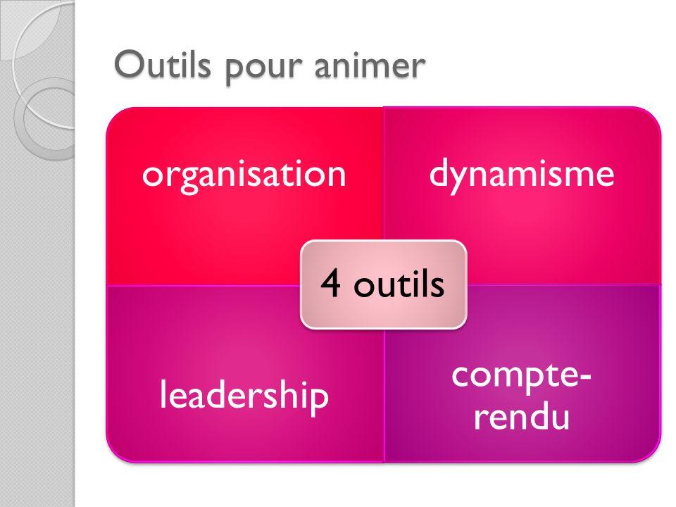 Outils pour animer organisationdynamisme leadership compte- rendu 4 outils