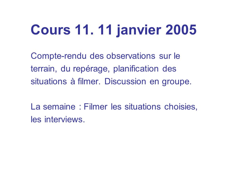 Cours 11.