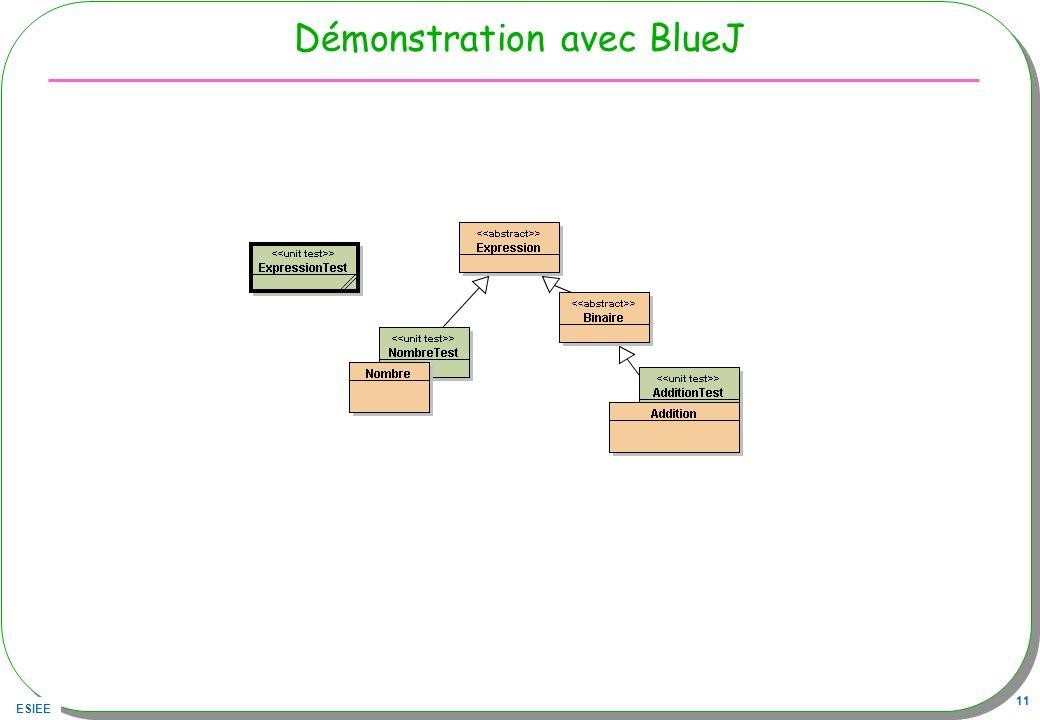 ESIEE 11 Démonstration avec BlueJ