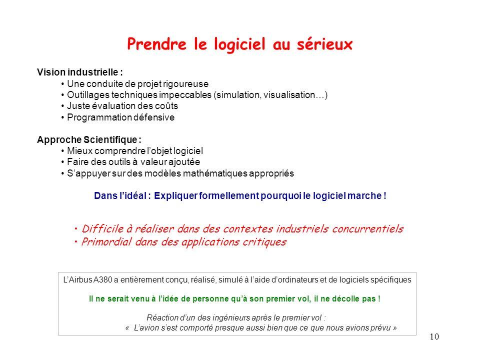 10 Vision industrielle : Une conduite de projet rigoureuse Outillages techniques impeccables (simulation, visualisation…) Juste évaluation des coûts P