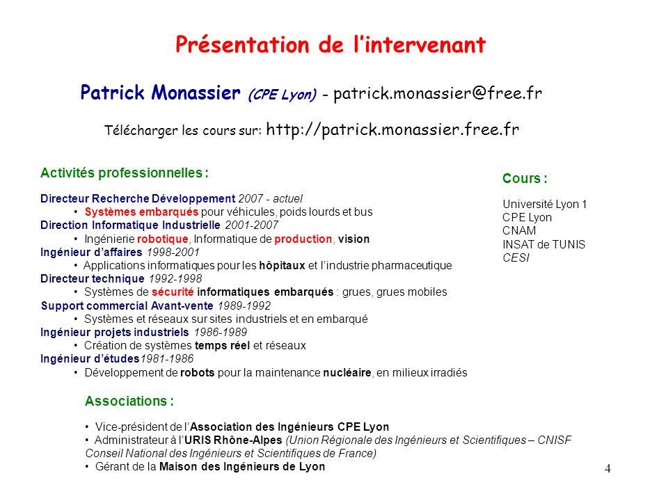 5 Introduction aux systèmes Informatiques Industriels Partie 1 - Introduction