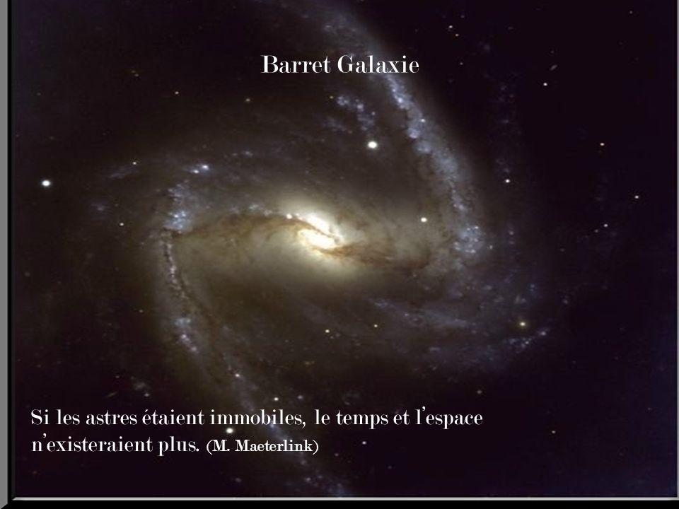 Barret Galaxie Si les astres étaient immobiles, le temps et lespace nexisteraient plus.