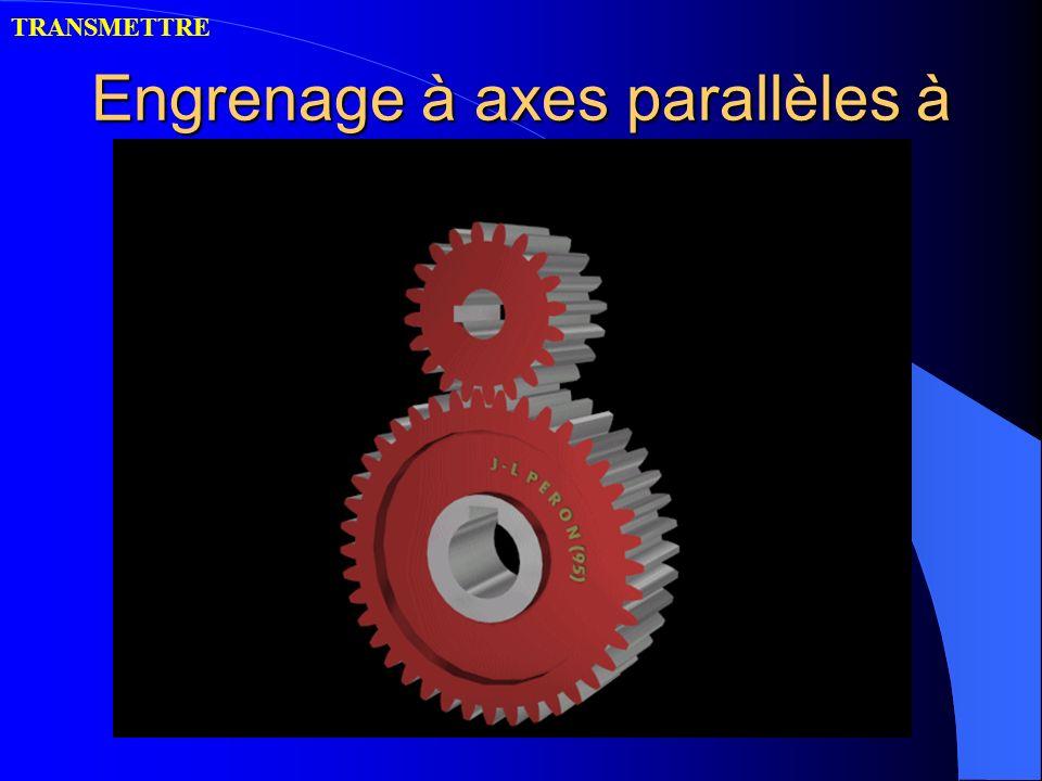 Engrenage à axes parallèles à denture droite TRANSMETTRE