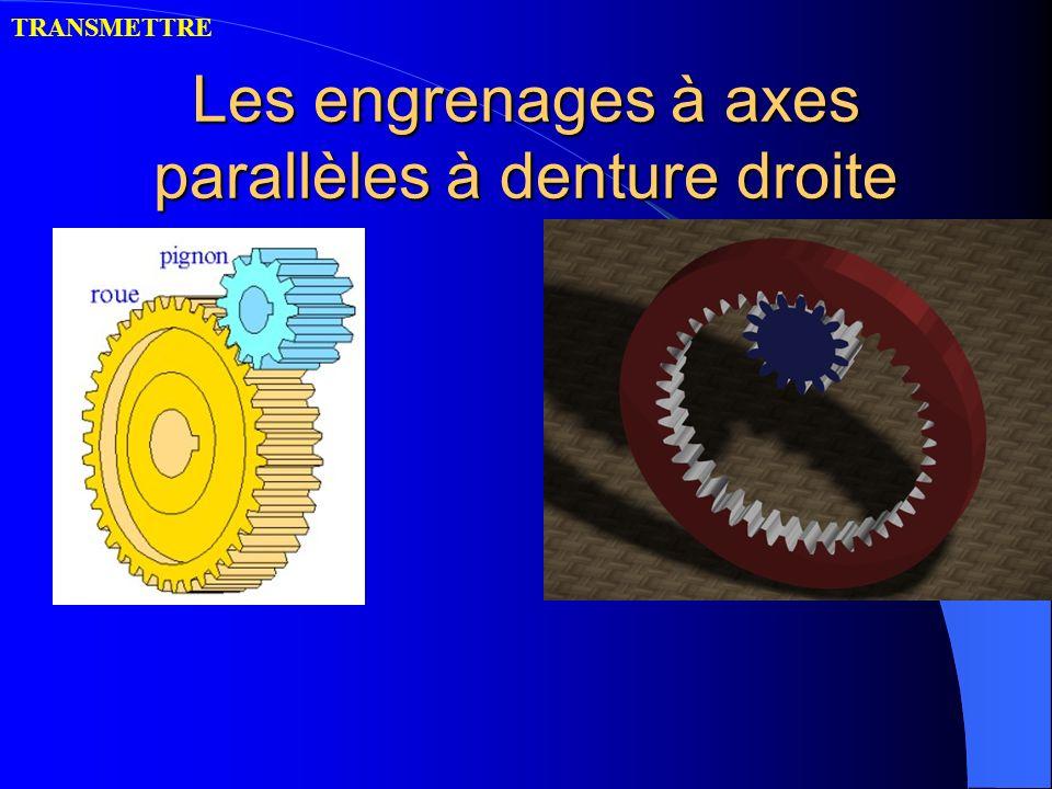 Les engrenages à axes parallèles à denture droite TRANSMETTRE