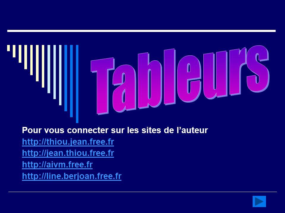 Pour vous connecter sur les sites de lauteur http://thiou.jean.free.fr http://jean.thiou.free.fr http://aivm.free.fr http://line.berjoan.free.fr