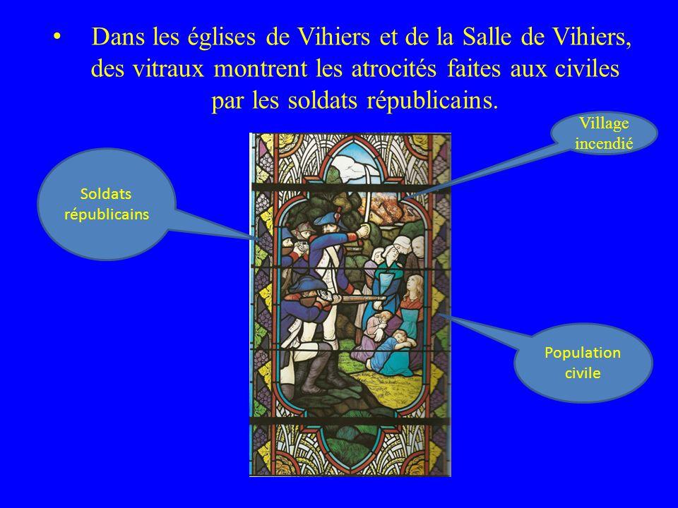 . D ans les églises de Vihiers et de la Salle de Vihiers, des vitraux montrent les atrocités faites aux civiles par les soldats républicains. Populati