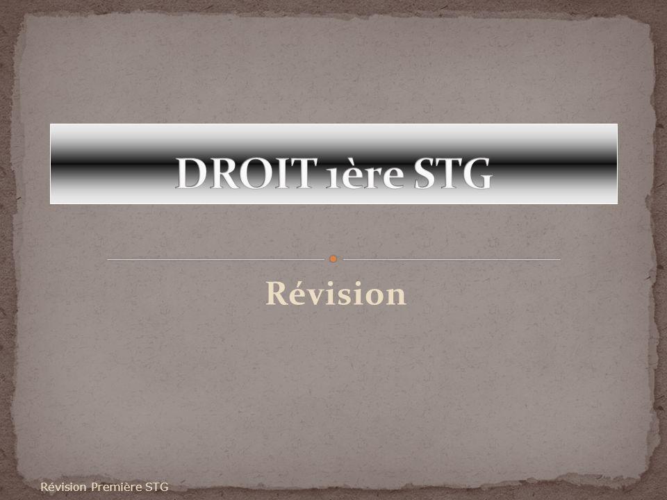 Révision Révision Première STG