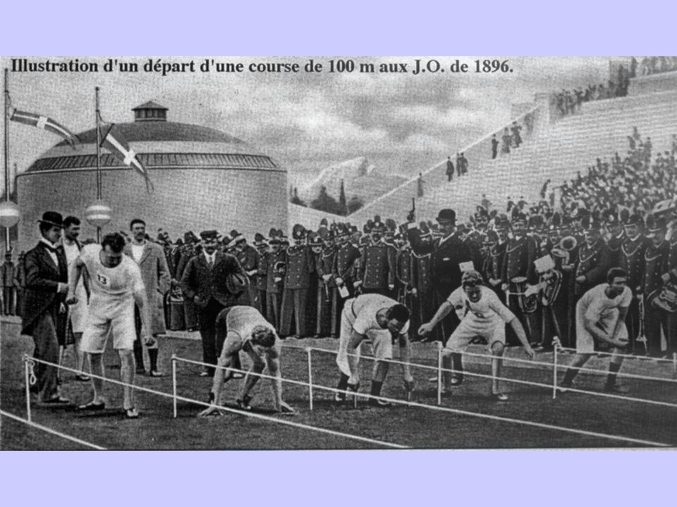 Des Jeux dathènes en 1896 aux J.O. De Beijing 2008… Technique Habits Matériels sportifs