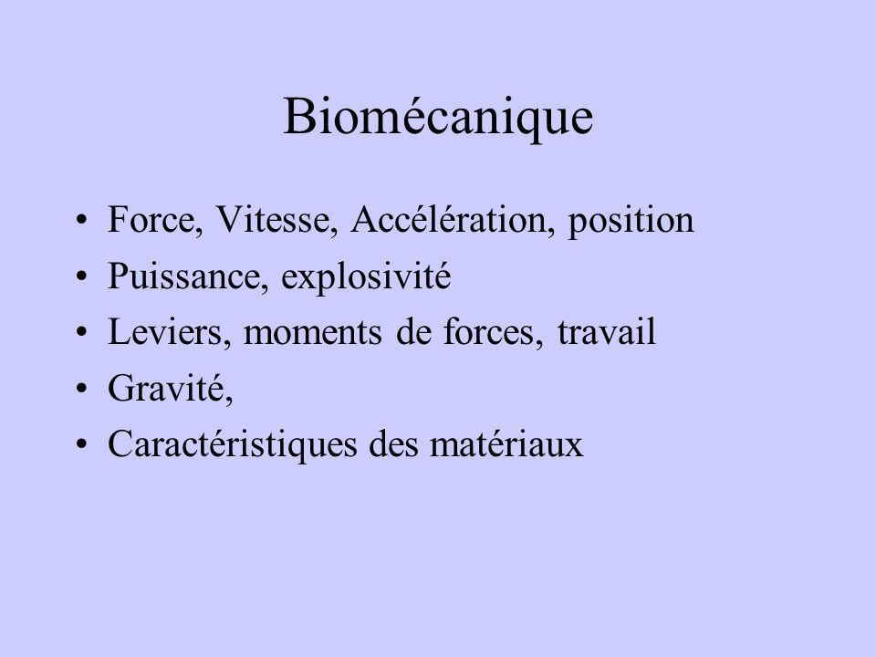 FACTEURS BIOMECANIQUES