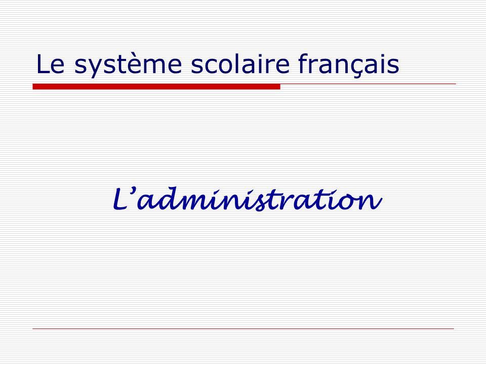 Le système scolaire français Ladministration