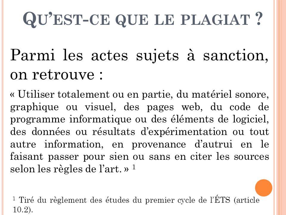 C OMMENT ÉVITER DE COMMETTRE DU PLAGIAT .
