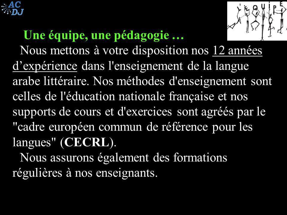 Au-delà des cours …des projets Ces cours qui sont avant tout un enseignement de la langue arabe, sont aussi un lieu de ressourcement identitaire pour les français d origine arabe et un lieu d ouverture culturelle pour les français ou non arabes d une façon générale.