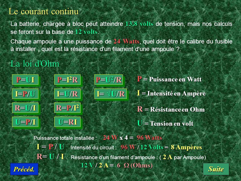 Le courant continu La dynamo, les piles ou les accumulateurs produisent un courant continu d'électrons (de charge négative) qui vont du pôle (-) vers