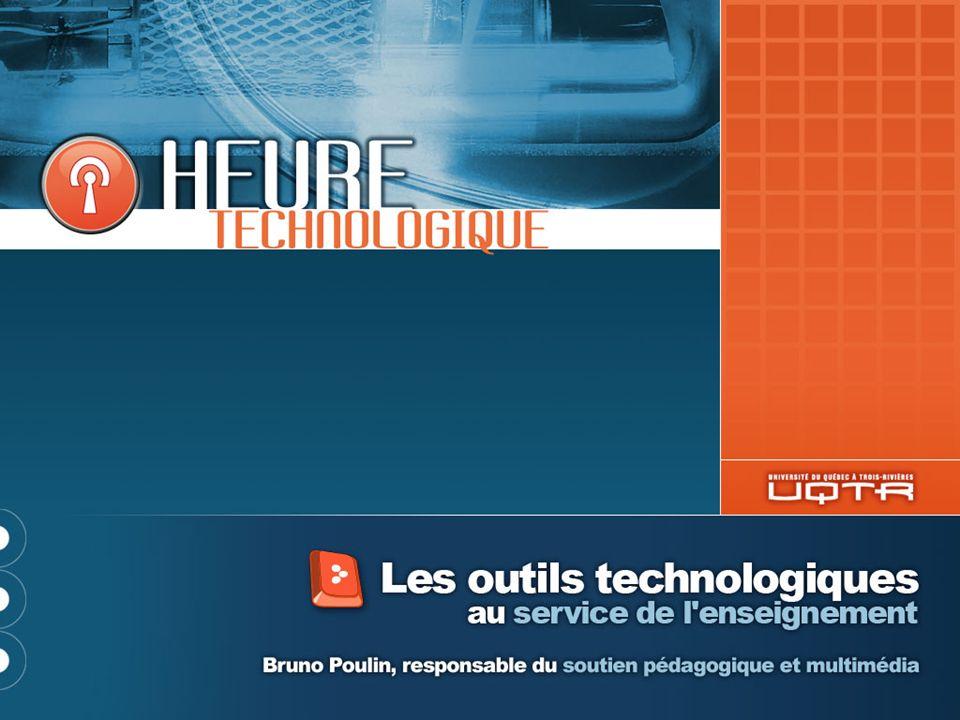 Merci Bruno Poulin Service de soutien pédagogique et technologique Poste 2236 Bruno.Poulin@uqtr.ca