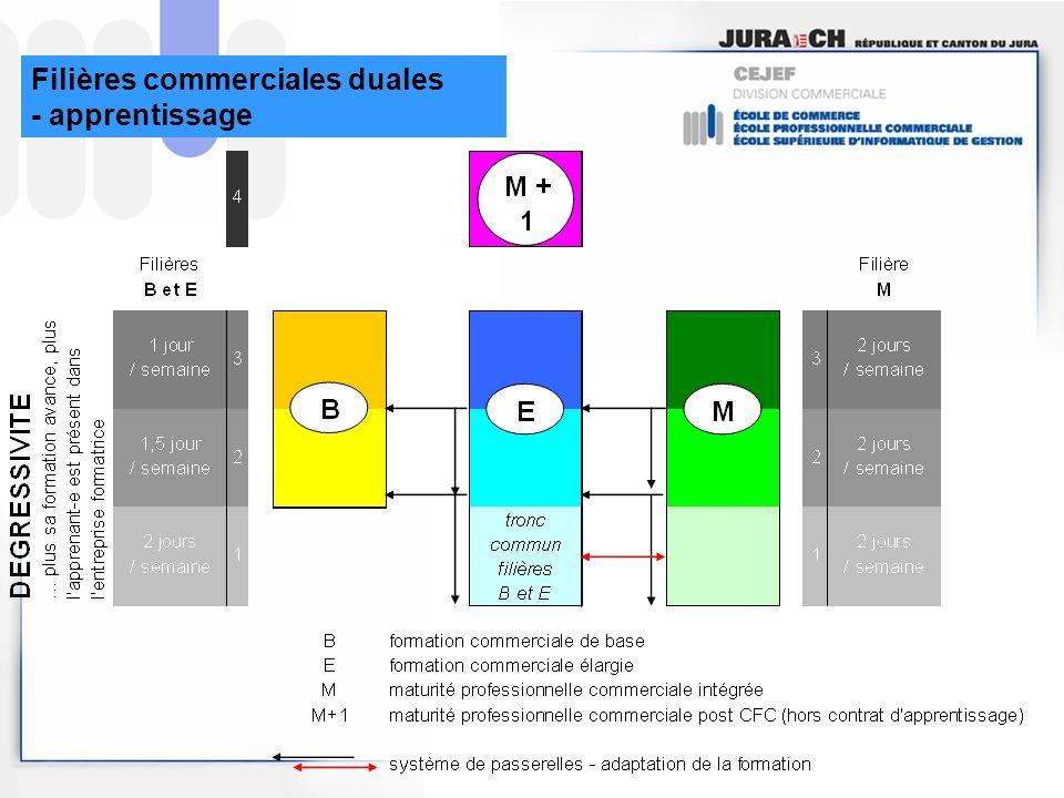 Filières commerciales duales - apprentissage
