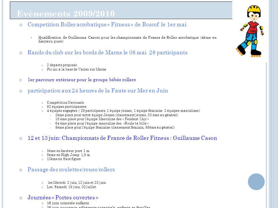 Evènements 2009/2010 Competition Roller acrobatique « Fitness » de Roscof le 1er mai Qualification de Guillaume Casoni pour les championnats de France