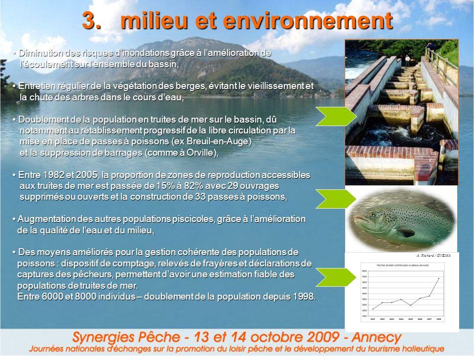 3.milieu et environnement Diminution des risques dinondations grâce à lamélioration de Diminution des risques dinondations grâce à lamélioration de lé
