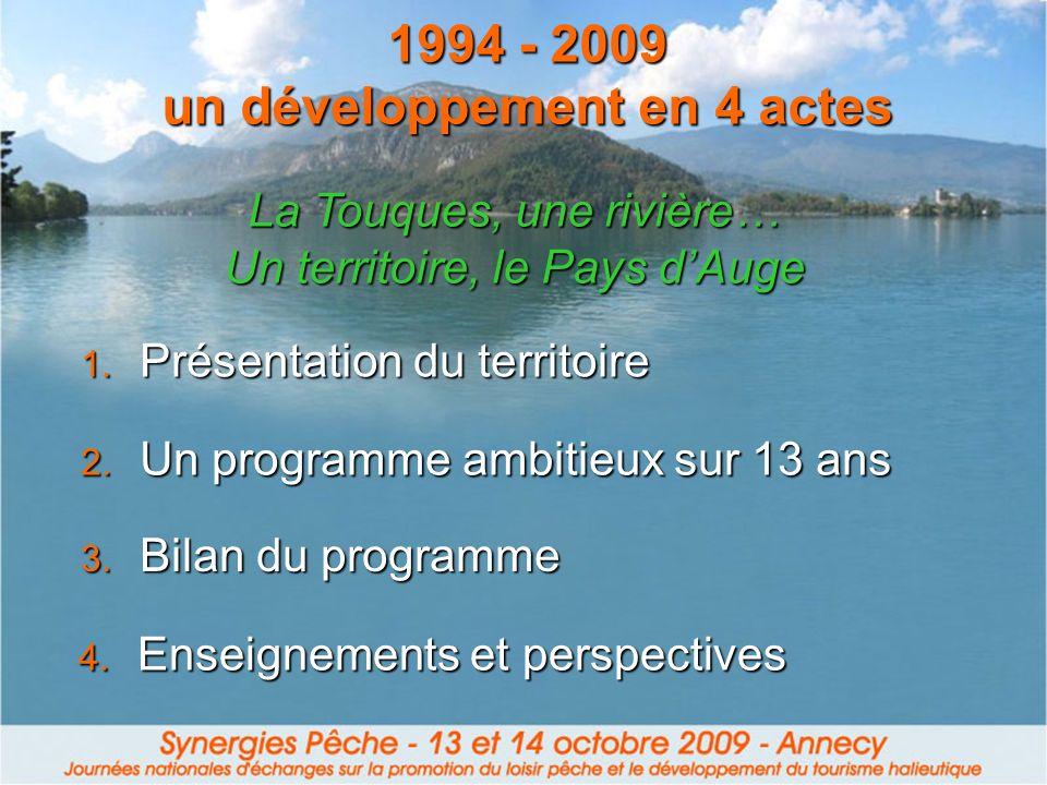 1994 - 2009 un développement en 4 actes 4. Enseignements et perspectives 1. Présentation du territoire 2. Un programme ambitieux sur 13 ans 3. Bilan d