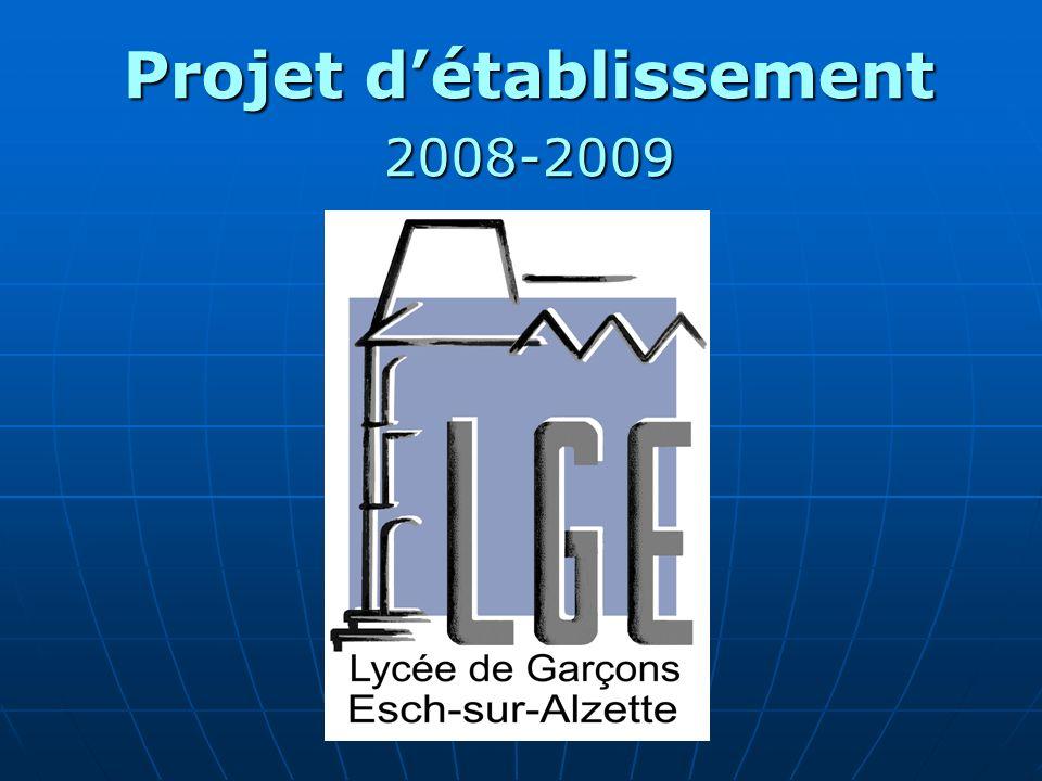 Projet détablissement 2008-2009