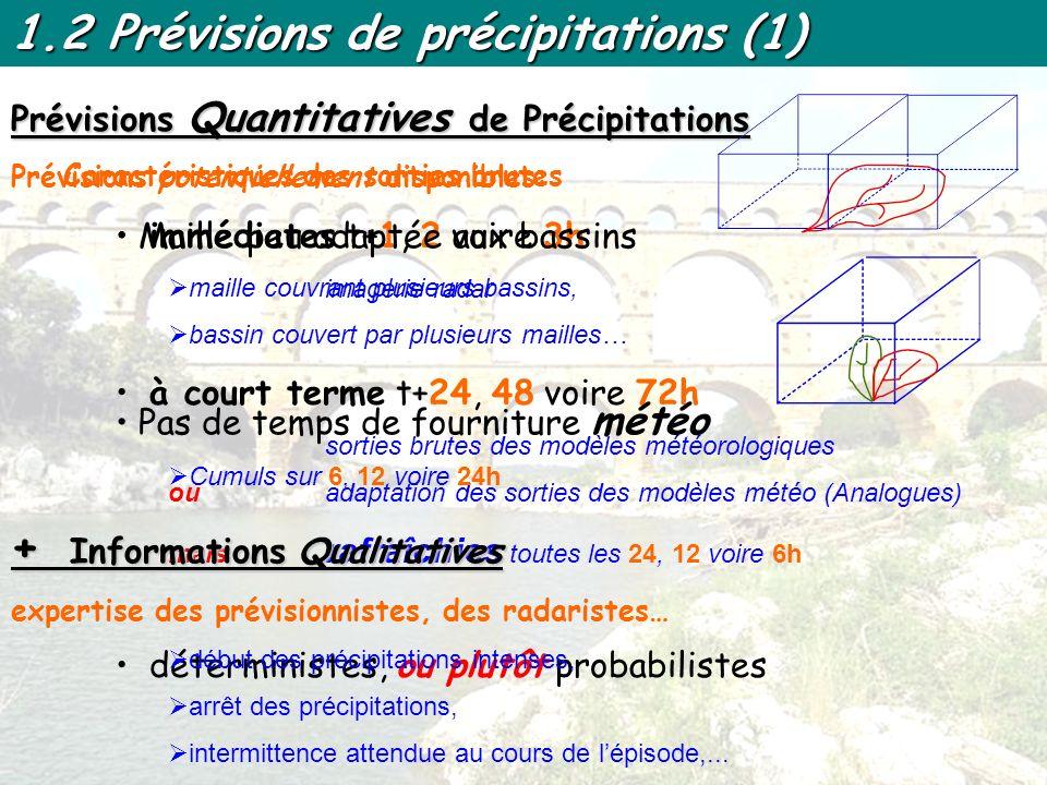 1.2 Prévisions de précipitations (2) Ex.