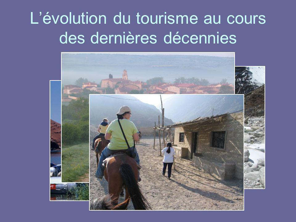Lévolution du tourisme au cours des dernières décennies