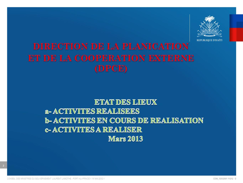 CDM_12052901 11212 D CONSEIL DES MINISTRES DU GOUVERNEMENT LAURENT LAMOTHE - PORT-AU-PRINCE 2