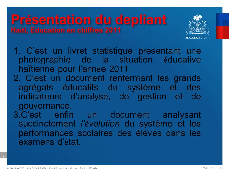 CDM_12052901_11212 CONSEIL DES MINISTRES DU GOUVERNEMENT LAURENT LAMOTHE - PORT-AU-PRINCE 1.
