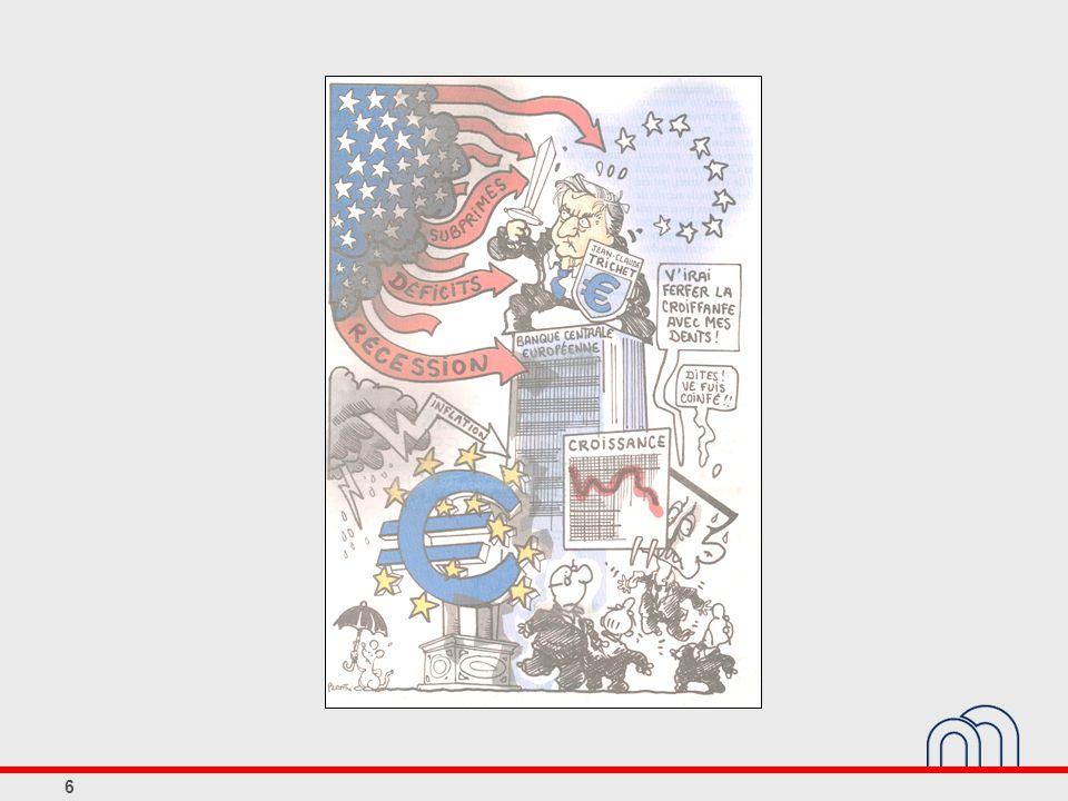 37 Les principes du cadre opérationnel selon le Traité de Maastricht L Eurosystème agit conformément au principe d une économie de marché ouverte où la concurrence est libre, en favorisant une allocation efficace des ressources.