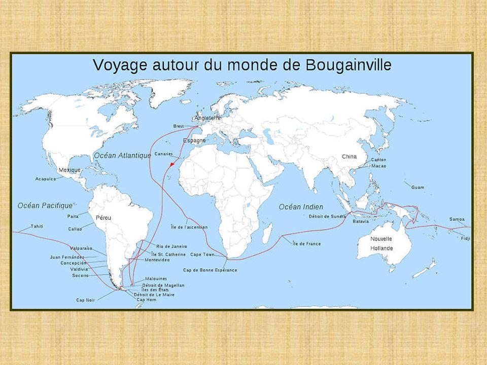 Louis-Antoine de Bougainville (1729-1811), explorateur et navigateur français, explora le Pacifique à la même époque que Cook.