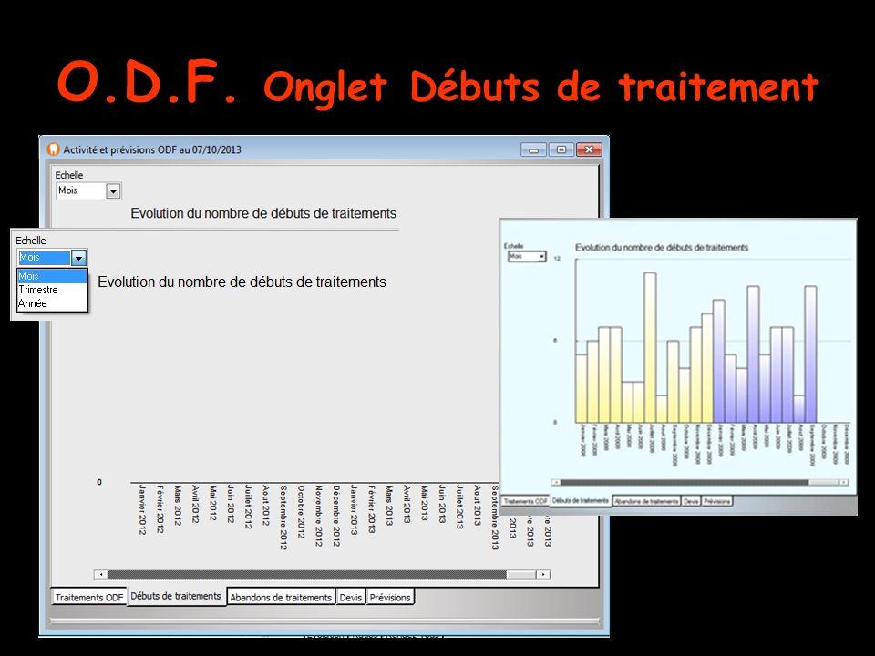 O.D.F. Onglet Débuts de traitement