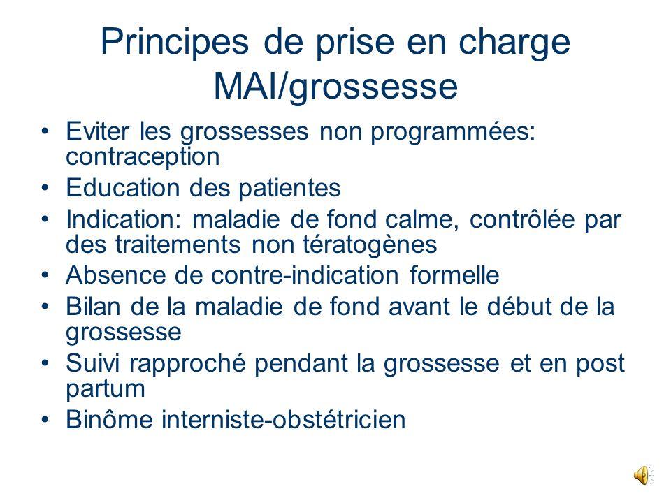 Grossesse et MAI: grands principes Rôle potentiel de la grossesse dans la survenue de la MAI Influence de la grossesse sur la MAI Influence de la MAI