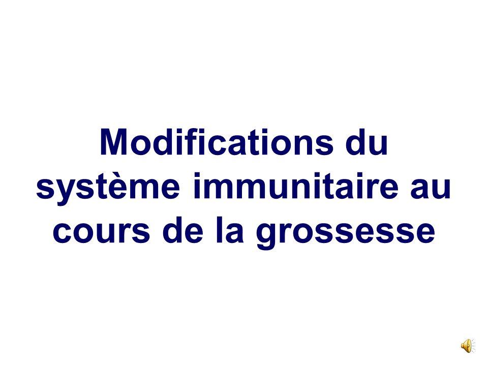 Modifications du système immunitaire au cours de la grossesse