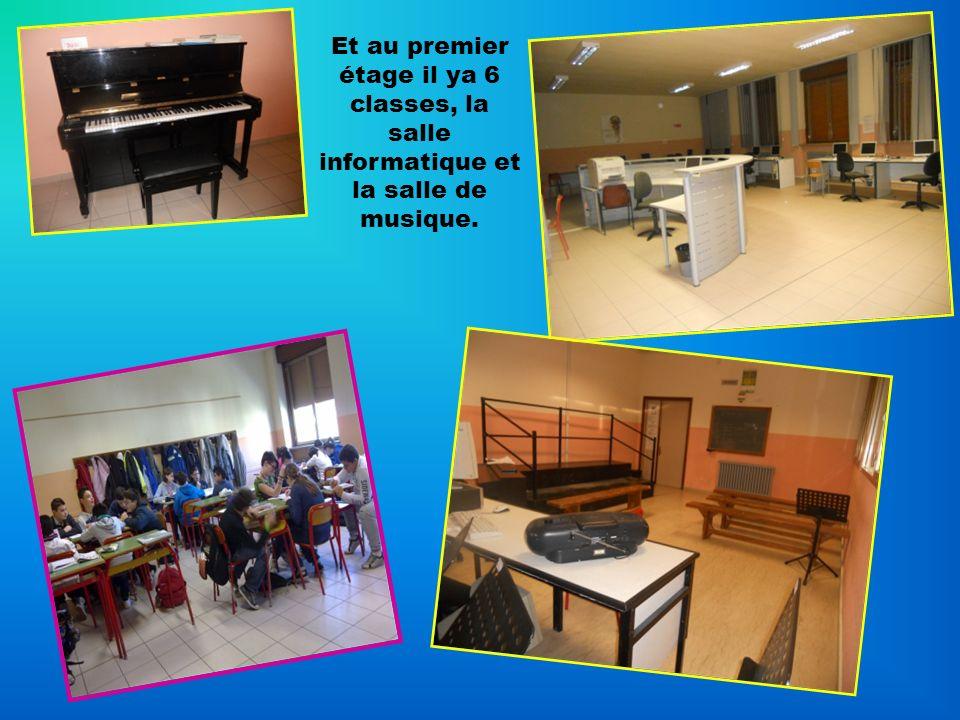 Et au premier étage il ya 6 classes, la salle informatique et la salle de musique.