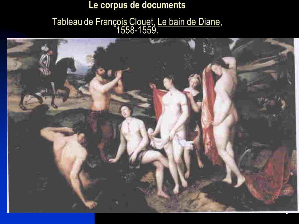 5 Le corpus de documents Tableau de François Clouet, Le bain de Diane, 1558-1559.