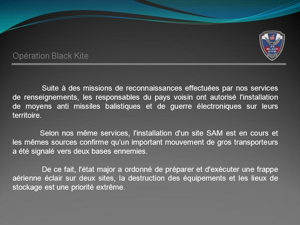 Suite à des missions de reconnaissances effectuées par nos services de renseignements, les responsables du pays voisin ont autorisé l installation de moyens anti missiles balistiques et de guerre électroniques sur leurs territoire.