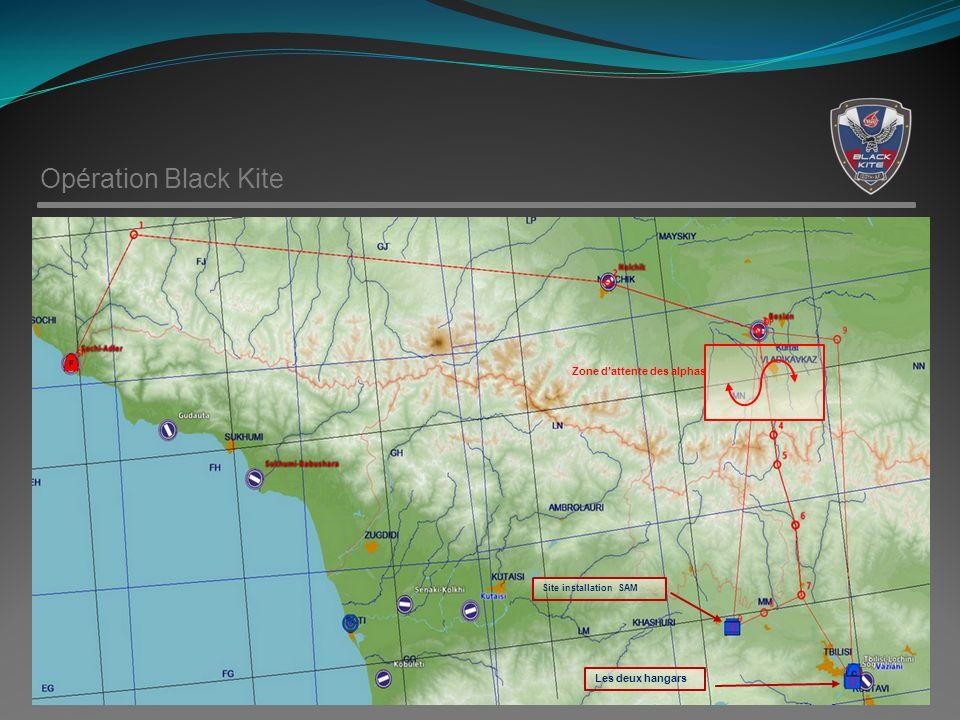 Opération Black Kite Site installation SAM Les deux hangars Zone dattente des alphas