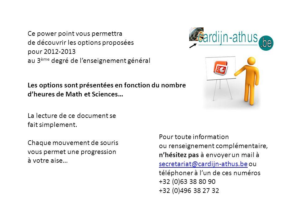 Séance information Choix Etudes 2012-2013 3 ème degré rue Neuve