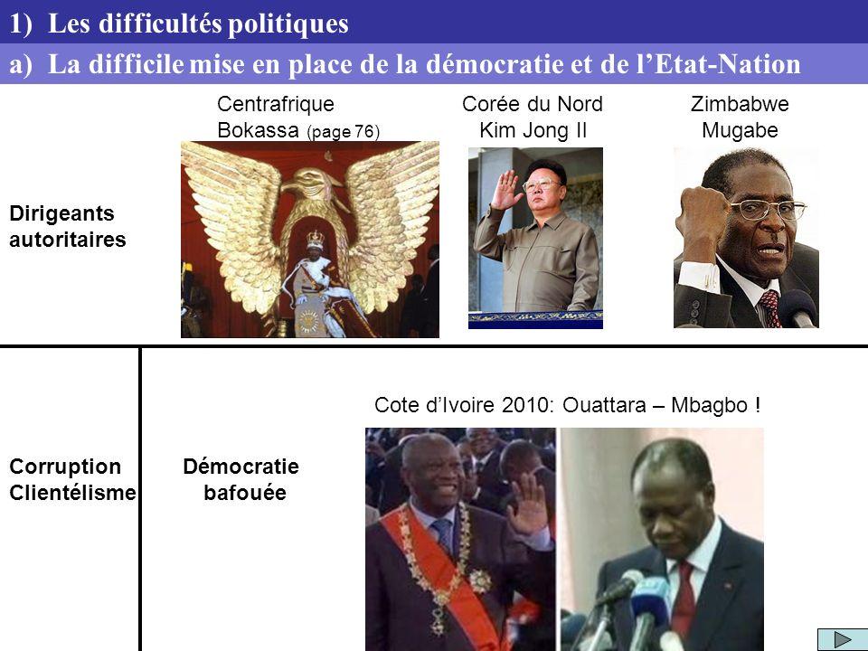 Corruption Clientélisme Démocratie bafouée Cote dIvoire 2010: Ouattara – Mbagbo ! a) La difficile mise en place de la démocratie et de lEtat-Nation 1)