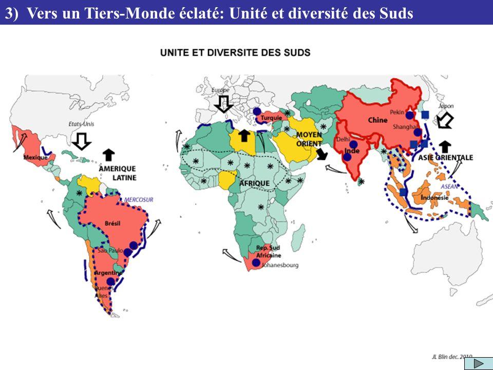 3) Vers un Tiers-Monde éclaté: Unité et diversité des Suds