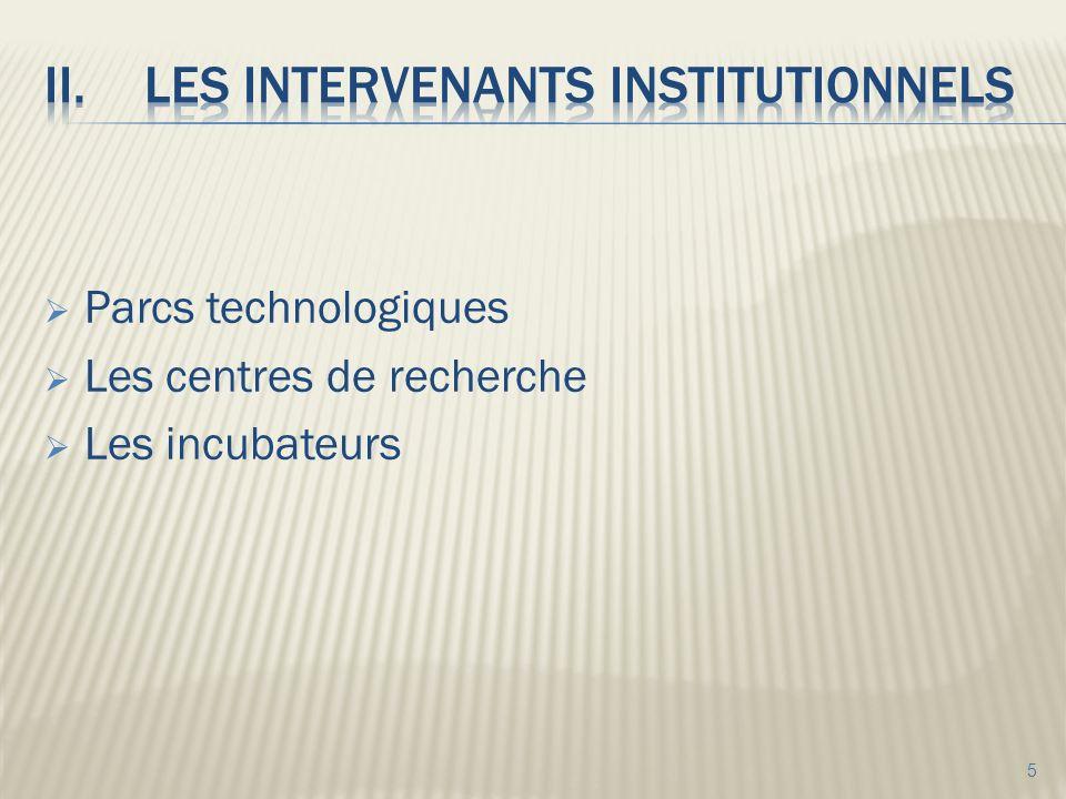Parcs technologiques Les centres de recherche Les incubateurs 5