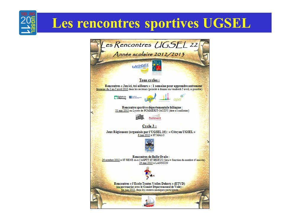 Les rencontres sportives UGSEL