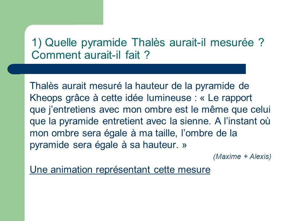4) Théorème de Thalès en Allemagne En Allemagne et dans les pays anglo-saxons, le théorème dit de Thalès est différent : Théorème de Thalès anglo-saxon : un angle inscrit dans un demi-cercle est droit.