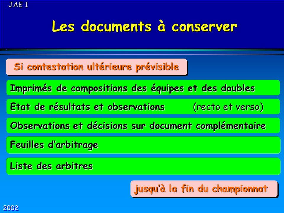 JAE 1 JAE 1 Les documents à conserver Les documents à conserver JAE 1 JAE 1 Les documents à conserver Les documents à conserver Feuilles darbitrage Im